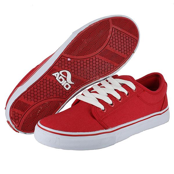 Smith MID Black - Red - Grey. Adio Shoes